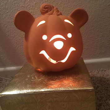 90s Light Up Winnie The Pooh Light Up Jack O Lantern Halloween Lamp Disney