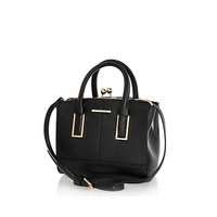 River Island Womens Black mini structured tote bag
