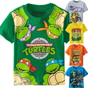 TMNT Teenage Mutant Ninja Turtles Baby Kid Boy Girls Tops T-shirt Clothes Blouse