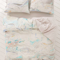 Mixed Marble Duvet Cover - Urban Outfitters
