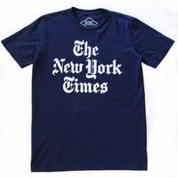 New York Times Header Logo navy tee by Altru Apparel