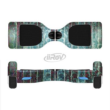 The Aged Blue Victorian Striped Wall Full-Body Skin Set for the Smart Drifting SuperCharged iiRov HoverBoard