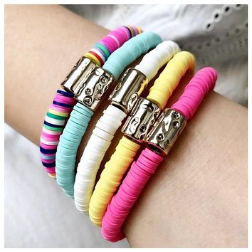 Adorable Clay Stretch Bracelets - Set of 5
