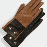 MICHAEL Michael Kors Perforated Leather Gloves   Nordstrom