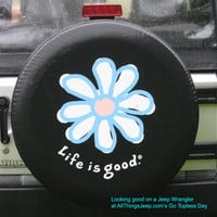 """All Things Jeep - Life is good """"DAISY"""" Spare Tire Cover"""