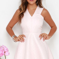 Incurably Romantic Blush Pink Skater Dress