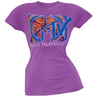 MTV - Tie Dye Logo Juniors T-Shirt