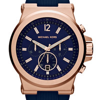 Michael Kors Mens Rose Gold-Tone Dylan Chronograph Watch