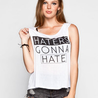 Full Tilt Haters Womens Muscle Tank White  In Sizes
