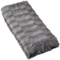 Mainstays Elegant Faux Fur Body Pillow Cover - Removable with Zip Cover - Grey - Fits up Tp 20 X 54 in Pillow