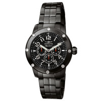 Invicta 7328 Men's Signature II Black Dial Black IP Stainless Steel Bracelet Multifunction Watch