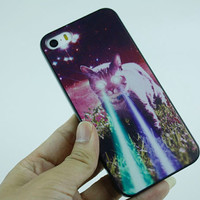 cute cat iphone 5s case psychedelic iphone 4s case samsung galaxy s4 cover note 3 phone case s5 back cover iphone 5 cover cat iphone 4s case