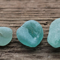 Light Blue Sea Glass Pendants Light Blue Beach Glass Teal Sea Glass