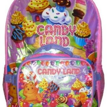 Candy Land The World of Sweets Large Backpack with Non Insulated Bag