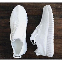 Tagre™ Adidas Women Yeezy Boost Sneakers Running Sports Shoes White