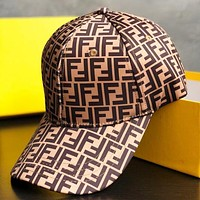 Alwayn Fendi New fashion more letter couple cap hat