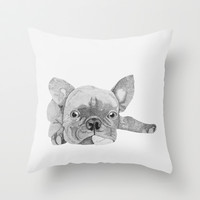 French Bulldog 2 Throw Pillow by Olivia James | Society6