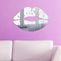 Hot Sales Unique Design Lips Acrylic Plastic 3d Wall Stickers Mirror Home Decor Removable Room Decals Art Paper