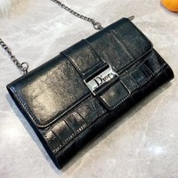 Dior New fashion leather bag shoulder bag crossbody bag Black