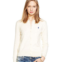 Polo Ralph Lauren Cotton Crewneck Cardigan - Andover Cream