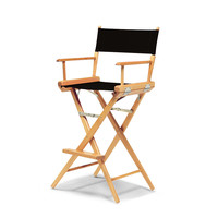 Varnish World Famous Director Chair- Bar Height - Black Cover