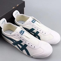 Trendsetter Onitsuka Tiger Mexico 66 Slip On Women Men Fashion Casual  Low-Top Old Skool Shoes