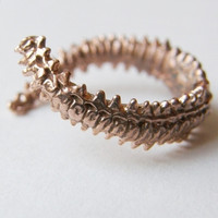 verameat | spine ring in silver