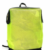 Sports Mesh Faux Leather Backpack