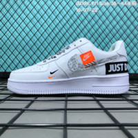 HCXX N086 Nike Air Force 1 Low Retro Just Do It Breathable Causal Skate Shoes White