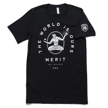 The World Is Ours Tee - Black/Silver