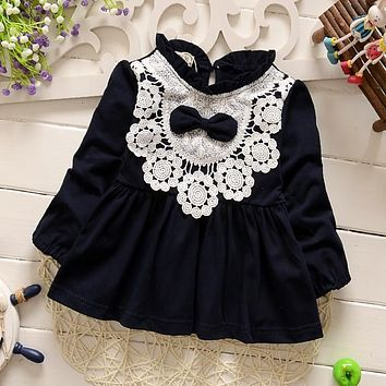 cute bow baby girls jacket 2016 spring fashion newborn lace outfits beb cardigan suit 7-24M kids pink casaco infantil