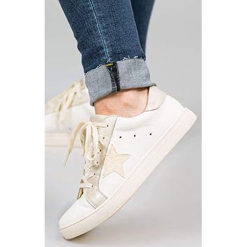 Denise Tri-Color Star Sneakers