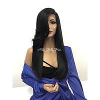 Black Silky Lace Front Wig - Designer Crush  121754*****