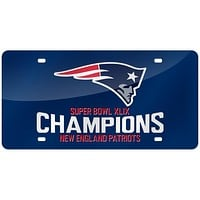 New England Patriots - Super Bowl 49 Champions Team Logo Laser Cut License Plate