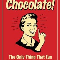 (11x17) Chocolate Only Thing That Compares To Good Sex Funny Retro Poster