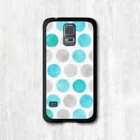 Samsung Galaxy s5 case - Water Mint Blue Polka Dots,  Galaxy s5 cover