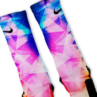 Rainbow Prism Custom Nike Elite Socks