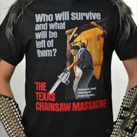HORROR MOVIE - The Texas Chainsaw Massacre (T-Shirt -OR- Girlie)