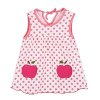 Baby Dress Sleeveless Flower Baby Girl Clothes Party Cartoon Vest Top Summer Dress 1-2Y (Random)