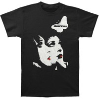 Siouxsie And The Banshees Men's  Red Lips T-shirt Black