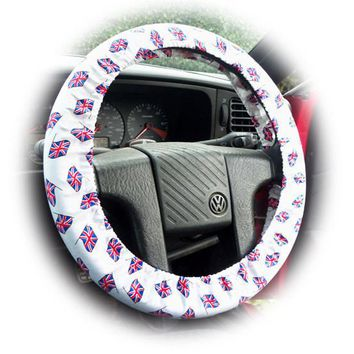 London Calling Union Jack flags cotton car steering wheel cover