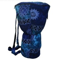X8 Drums & Percussion X8-BG-BLUE-XL Djembe Backpack Bag with Blue Celestial Design, XL