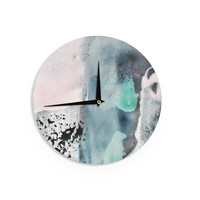 """Iris Lehnhardt """"Abstract Color"""" Pastel Painting Wall Clock"""