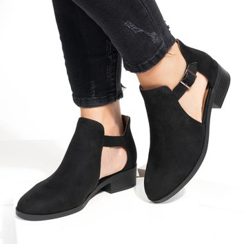 Sprint Side Cutout Ankle Booties