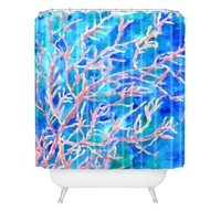 Rosie Brown Coral Fan Shower Curtain Sample Sale