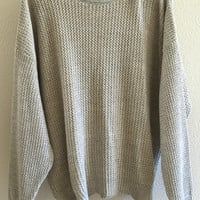 Plain Sweater Oversized 90's Vintage XL