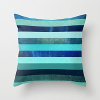 Deep Oceans Throw Pillow by Elisabeth Fredriksson