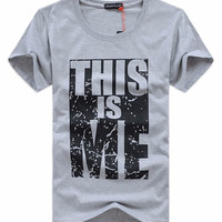THIS is Me Summer Men T Shirt Casual Cotton T-Shirt Men Short Sleeve Slim Fit O-Neck Tees Letter Printed Male camisa masculinas