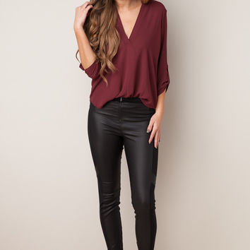 Leather or Not Black Pants