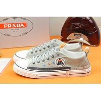 prada men fashion boots fashionable casual leather breathable sneakers running shoes 92